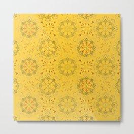 Autumn leaf pattern 1a Metal Print