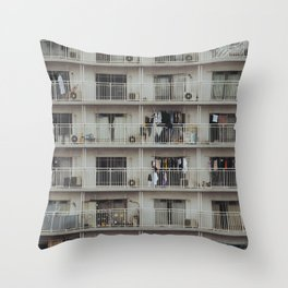 Japanese Apartment Building. Urban Japan. Fine Art Travel Print. Wall Art. Throw Pillow