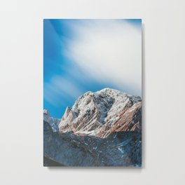 Misty clouds over the mountains Metal Print