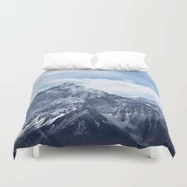 Snowy Mountain Peaks Duvet Cover