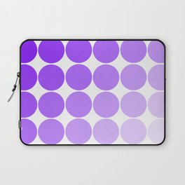Violet Circle Color Chart Laptop Sleeve