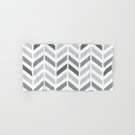 Chevron Grey Small Pattern Hand & Bath Towel