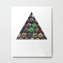 Graffiti Spray Cans - Geometric Photography Metal Print