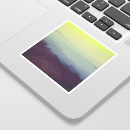 Coastal Landscape Abstract Sticker