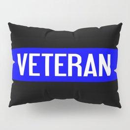 Police Veteran: The Thin Blue Line Pillow Sham