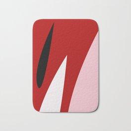 Abstract Flower Red #red #pink #artdeco #fresh #spring #minimal #art #design #kirovair #buyart #deco Bath Mat