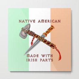 Native American/Irish Metal Print