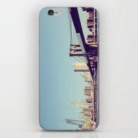 brooklyn bridge iPhone & iPod Skins featuring Brooklyn Bridge  by Shilpa