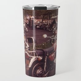 Parked Motorcycles Vintage Photograph Travel Mug