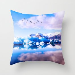 Frozen Journey to the Νorth Throw Pillow