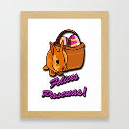 Felices Pascuas Framed Art Print