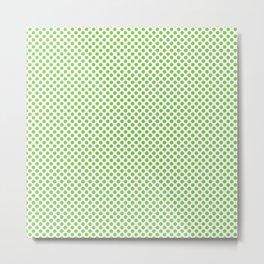 Jasmine Green Polka Dots Metal Print
