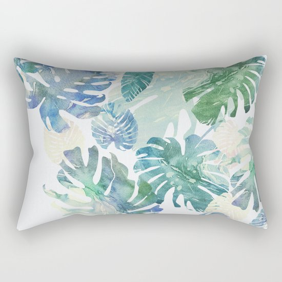 tropical cold leaves Rectangular Pillow