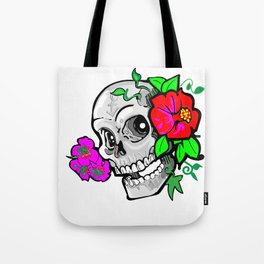 60's Skully Tote Bag