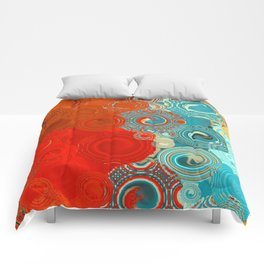 Red and Turquoise Swirls Comforters