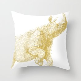 Javan rhino Throw Pillow