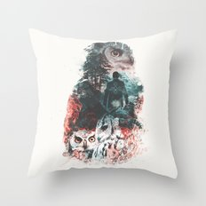 Not What They Seem Inspired by Twin Peaks Throw Pillow