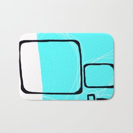 Blocks-Blue Square  Bath Mat