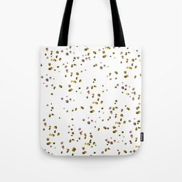 Modern abstract pink gold confetti pattern Tote Bag