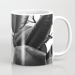 Ficus Elastica #23 #BlackAndWhite #foliage #decor #art #society6 Coffee Mug