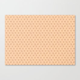 brown flowers on peach background Canvas Print