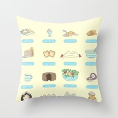 Some of the uses of eggs Throw Pillow