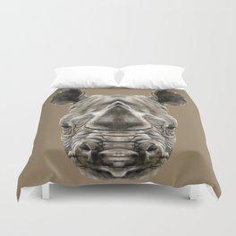Rhino Sym Duvet Cover