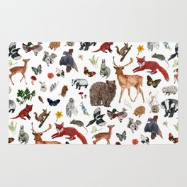Wild Woodland Animals Rug
