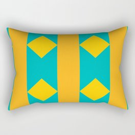 Pattern orange blue Rectangular Pillow
