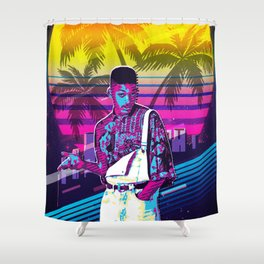 Fresh Prince retro art Shower Curtain
