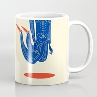 onesie Mugs featuring High  by Karl James Mountford