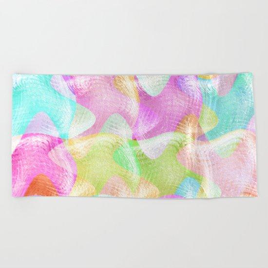 Pastels Having Fun Beach Towel
