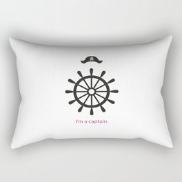 I'm a captain.(on white) Rectangular Pillow