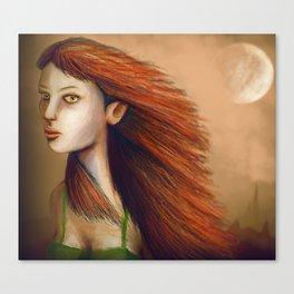 Eyes Of Fiery Devotion Canvas Print
