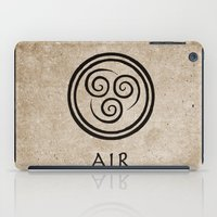 airbender iPad Cases featuring Avatar Last Airbender - Air by bdubzgear