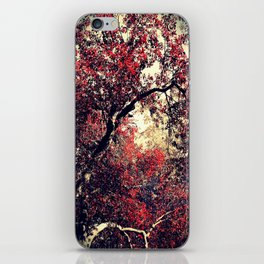 Red is the Tree that Grows iPhone Skin
