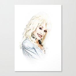 Dolly Parton - Pop Art Canvas Print