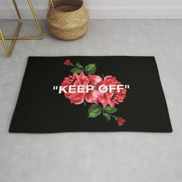 Keep Off White – Roses Rug