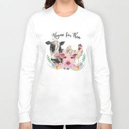 Vegan for Them Long Sleeve T-shirt