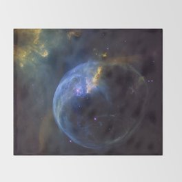 The Bubble Nebula NGC 7653 Throw Blanket