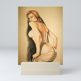 red hair girl Mini Art Print