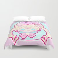 sailormoon Duvet Covers featuring Marshmallow Sailormoon by Candy Castle