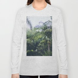 Palm Trees in a Tropical Garden Long Sleeve T-shirt