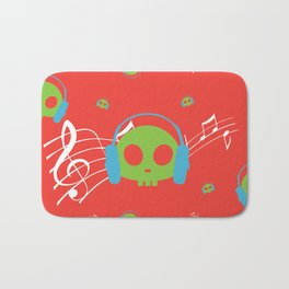 Music Skull Bath Mat