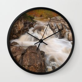 Great Falls Autumn Cascades Wall Clock