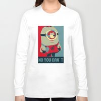 obama Long Sleeve T-shirts featuring Minion Obama by Skorretto