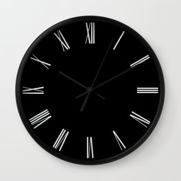 Romans number Black Wall Clock