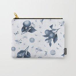 Porcelain Blue Butterflies and Citrus Carry-All Pouch