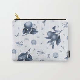Porcelain Blue Butterflies and Citrus Carry-All Pouch