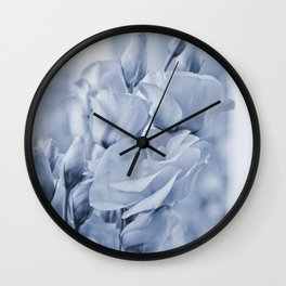 Soft blue lisianthus - Hampton Style Wall Clock